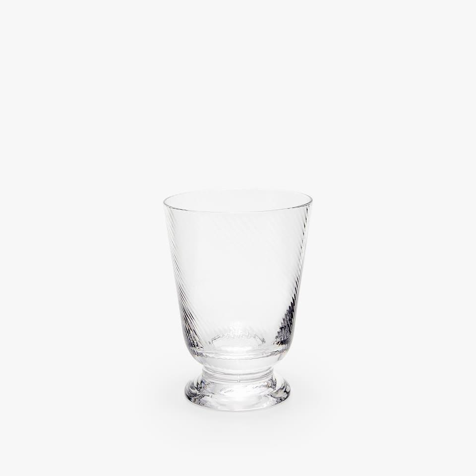 WAVY-EFFECT GLASS TUMBLER