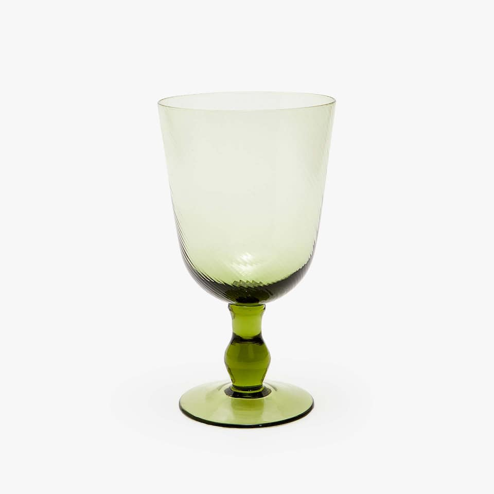 WAVY-EFFECT WINE GLASS