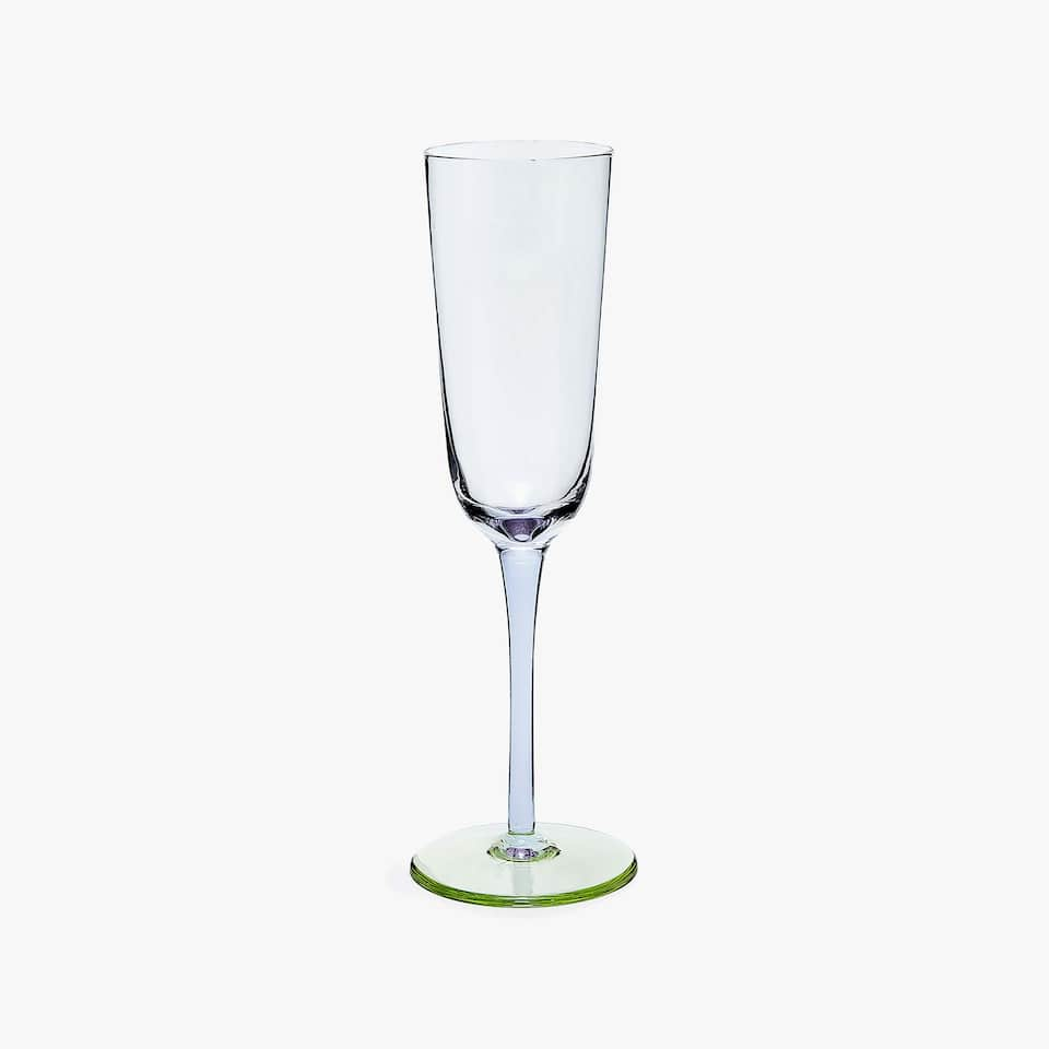 TWO-TONE GLASS CHAMPAGNE FLUTE