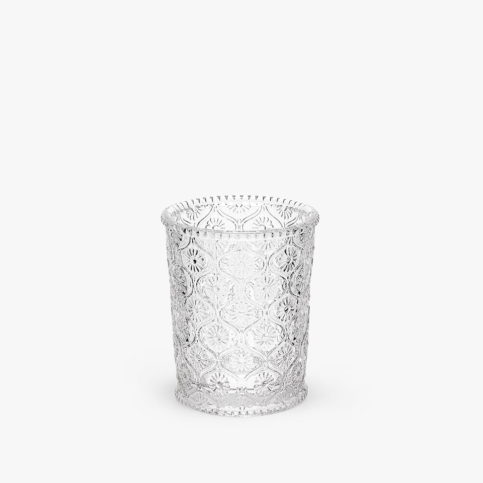 RAISED FLOWERS TUMBLER