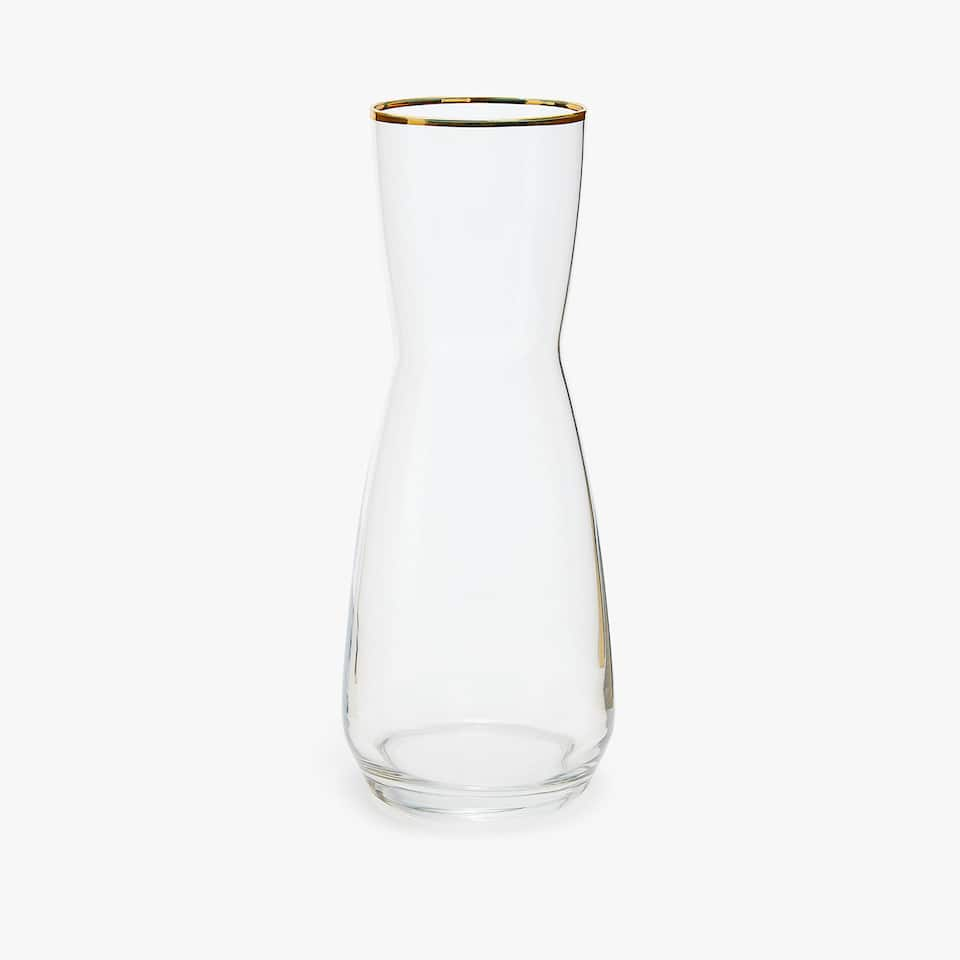 GOLD-RIMMED BOTTLE