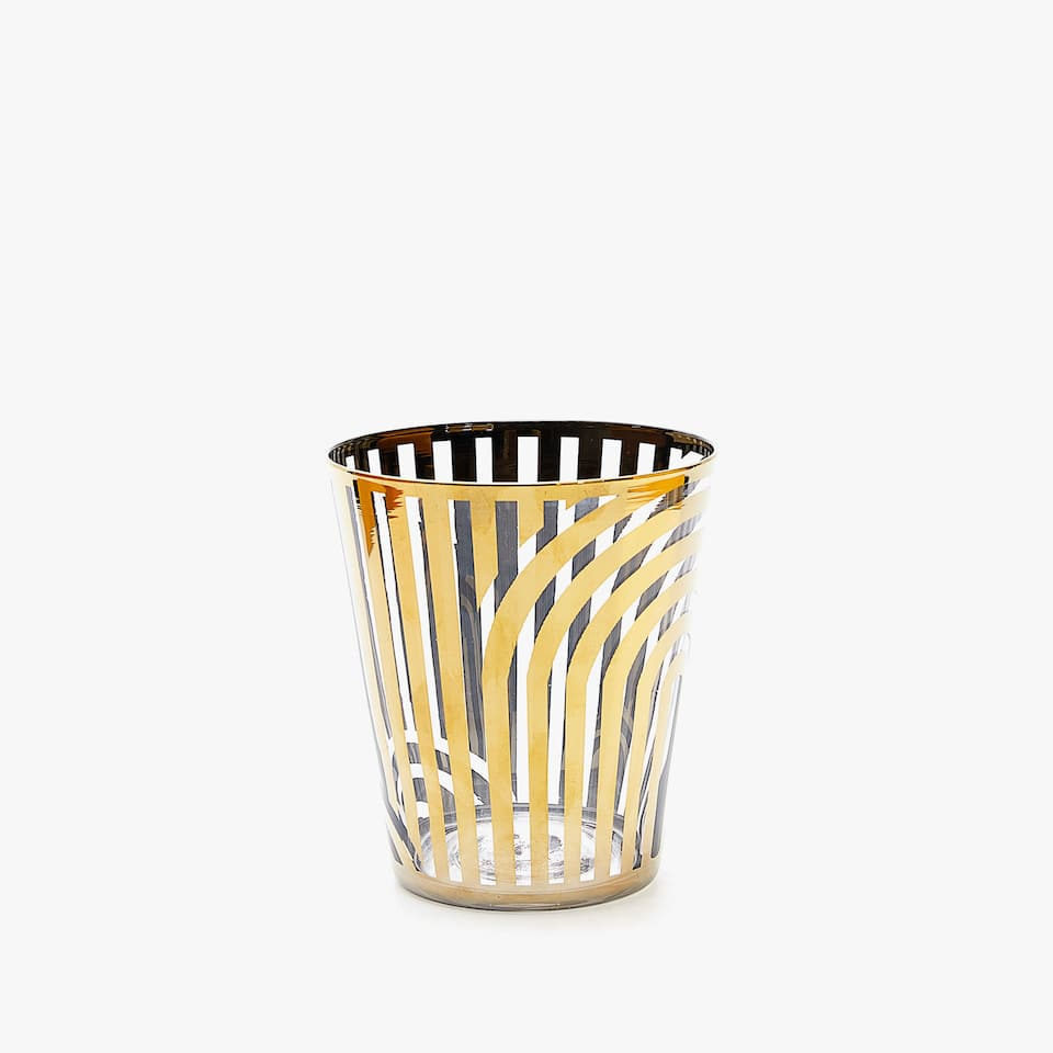 GOLD GEOMETRIC DESIGN TUMBLER
