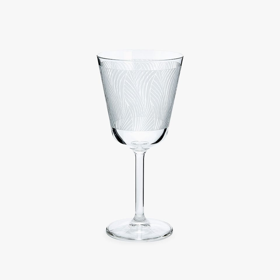 WAVY TRANSFER WINE GLASS