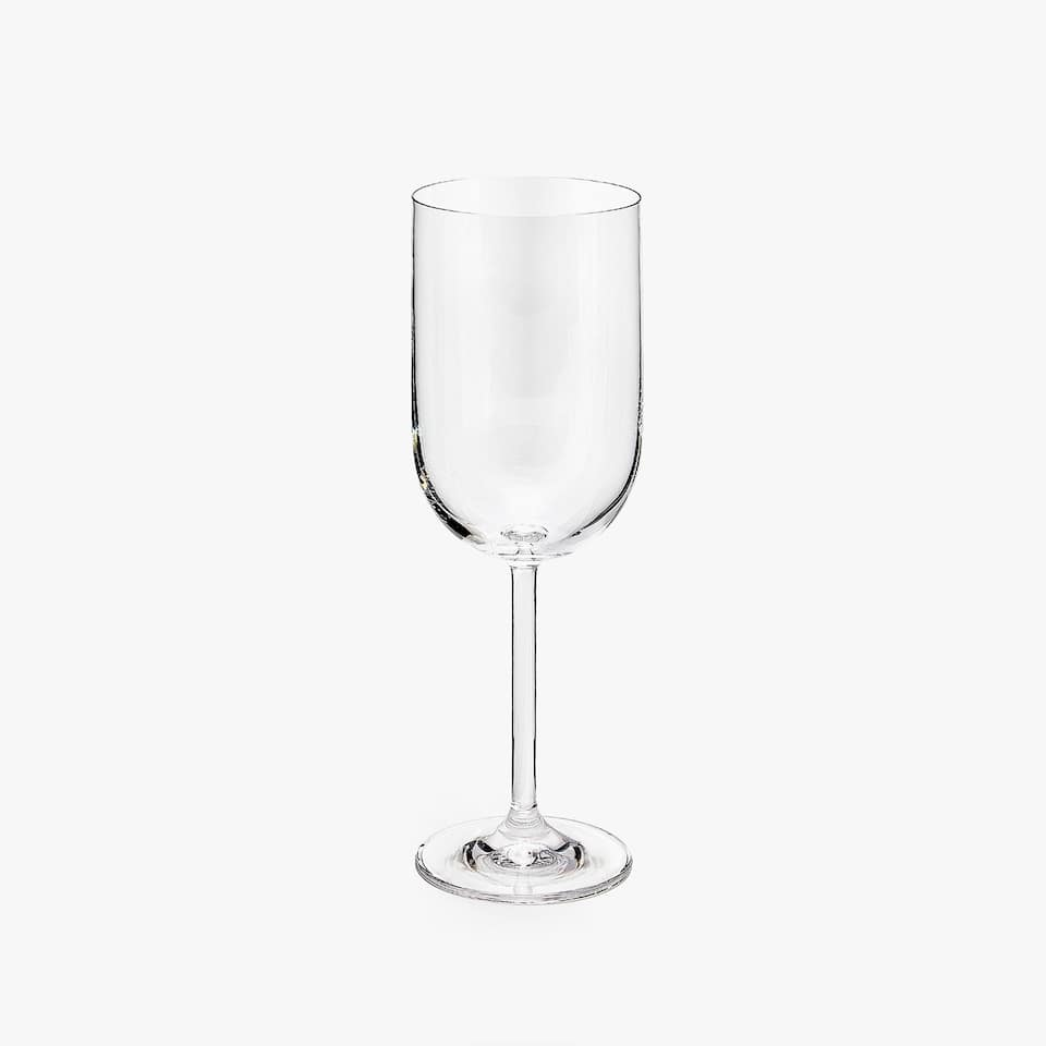ROUNDED CRYSTALLINE WINE GLASS