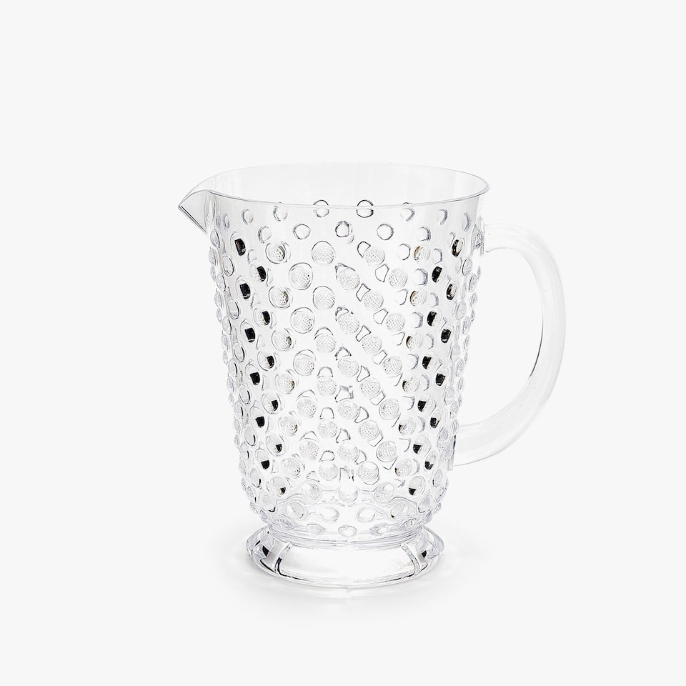 ACRYLIC JUG WITH RAISED DOTS