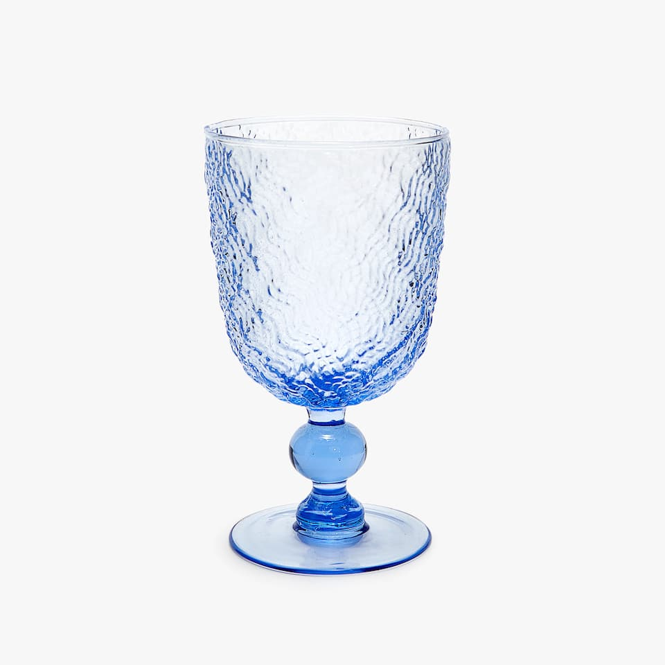 RAISED TEXTURE WINE GLASS