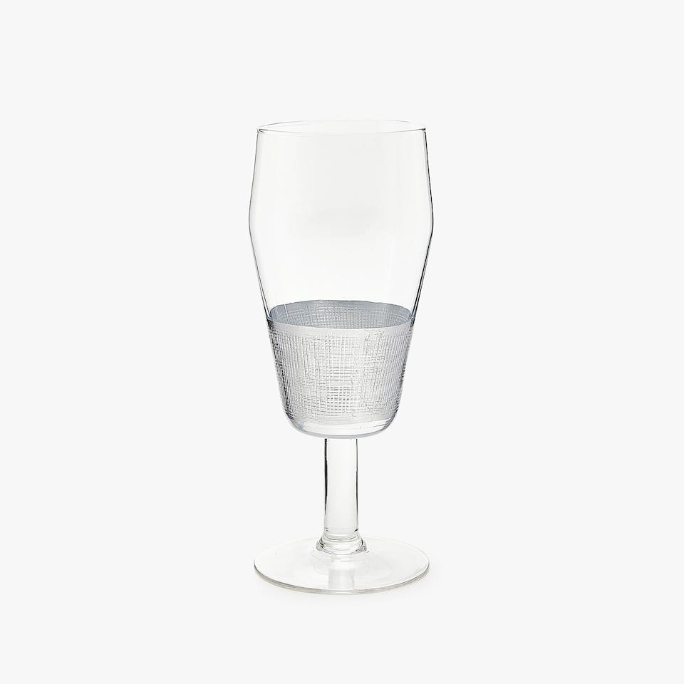 WINE GLASS WITH SILVER BASE