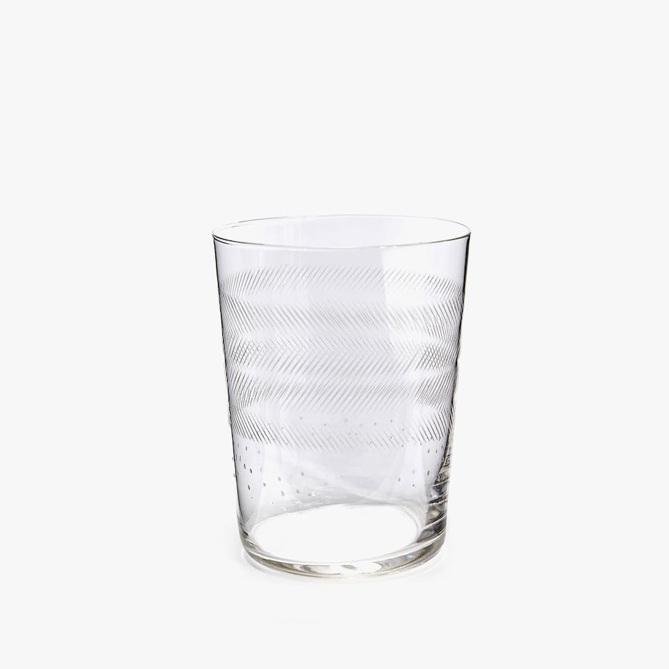 RAISED-EFFECT NOTCHED SOFT DRINK TUMBLER