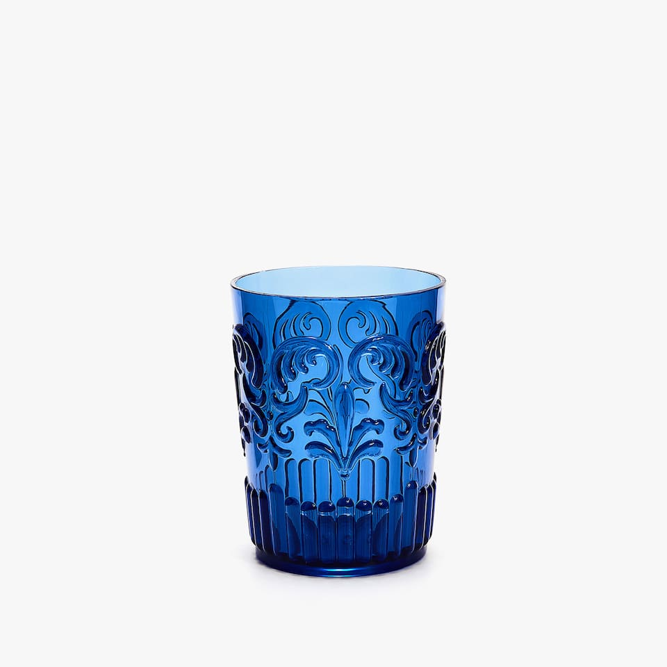 ACRYLIC RAISED DESIGN TUMBLER