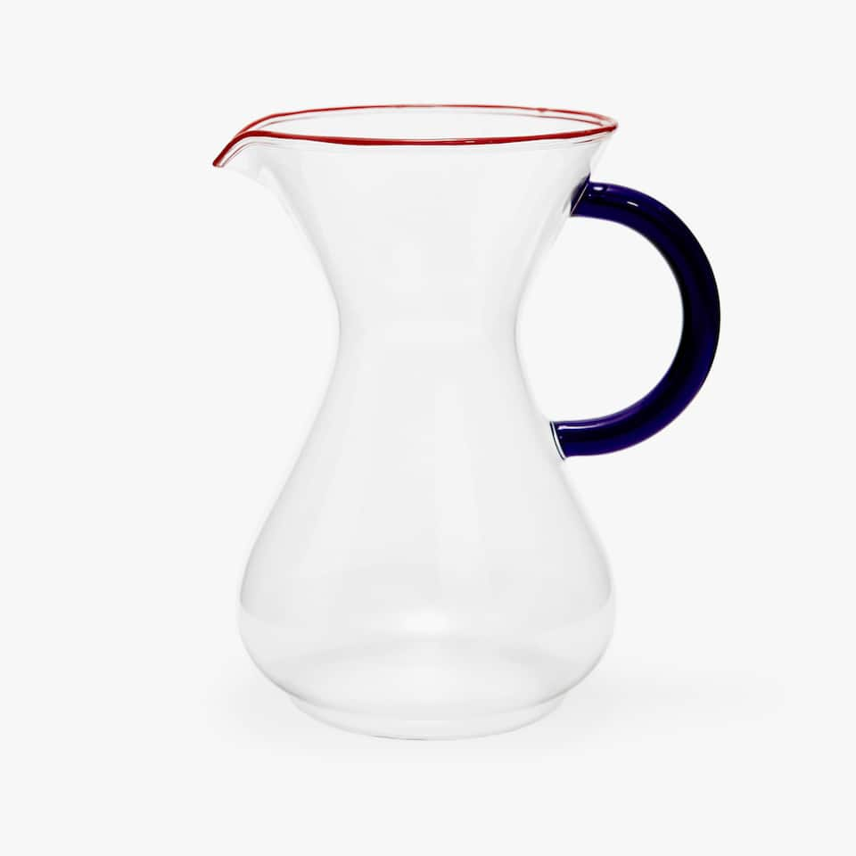JUG WITH CONTRASTING HANDLE AND RIM