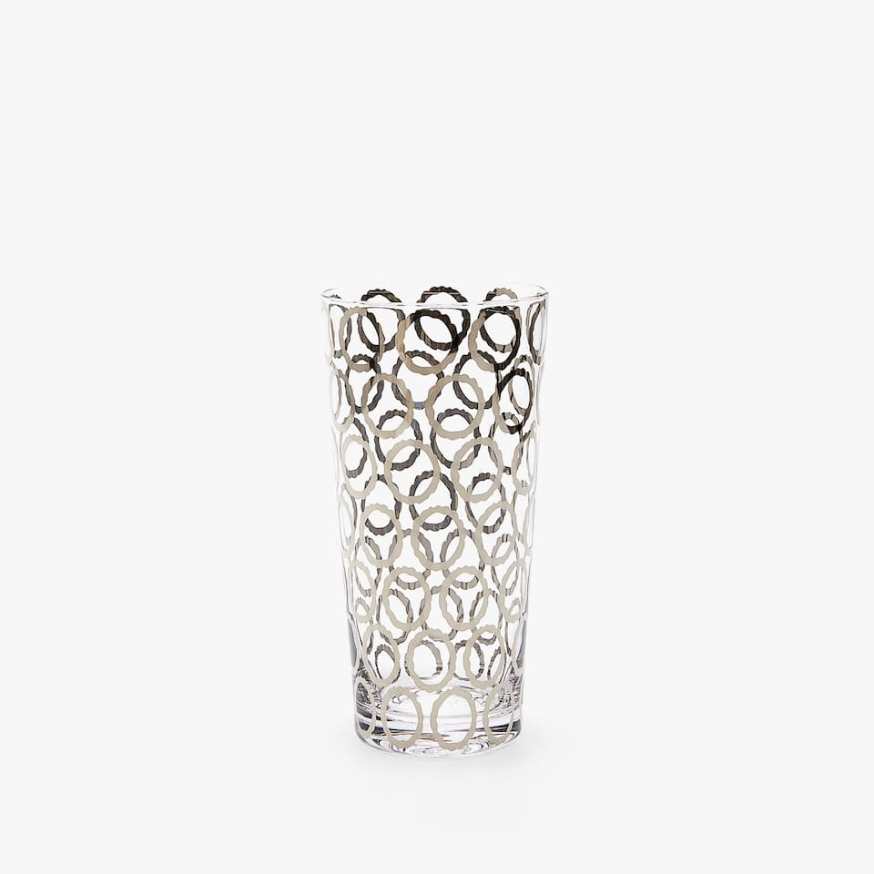 CIRCLES DESIGN SOFT DRINK TUMBLER