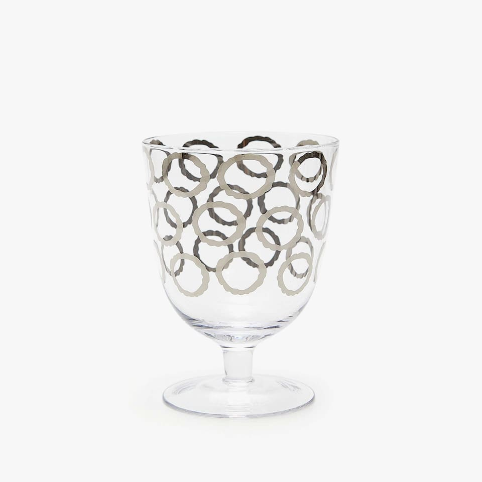 CIRCLES DESIGN WINE GLASS