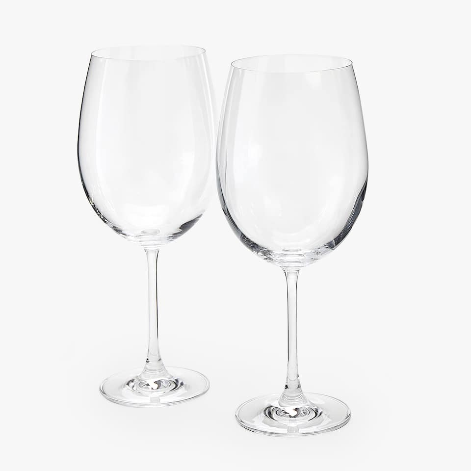 CHRYSTALLINE BORDEAUX WINE GLASS (SET OF 2)