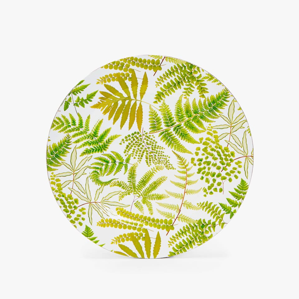 FERN PRINT CHARGER PLATE