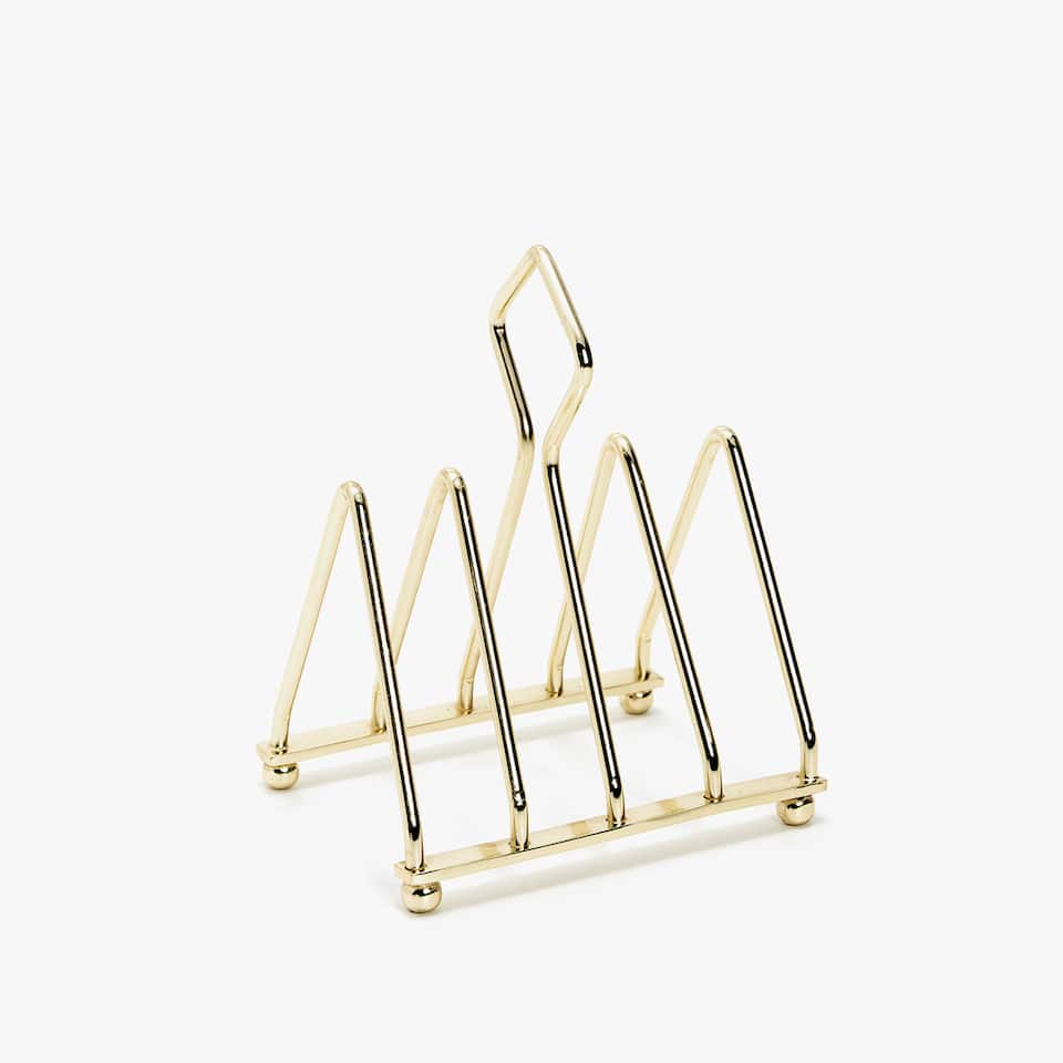GOLDEN STEEL TOAST RACK