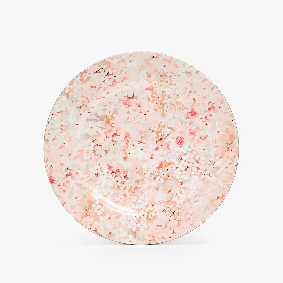 MINI FLORAL PRINT CHARGER PLATE