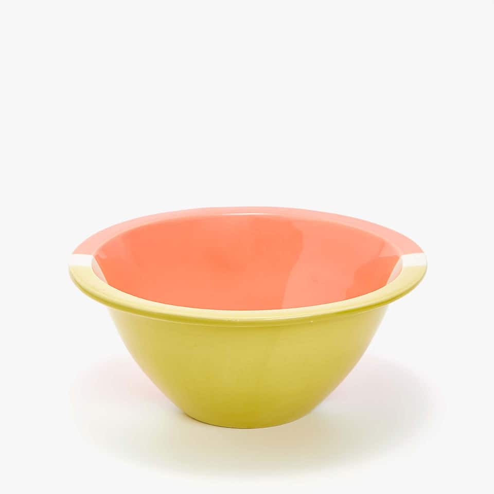 LARGE EARTHENWARE SALAD BOWL