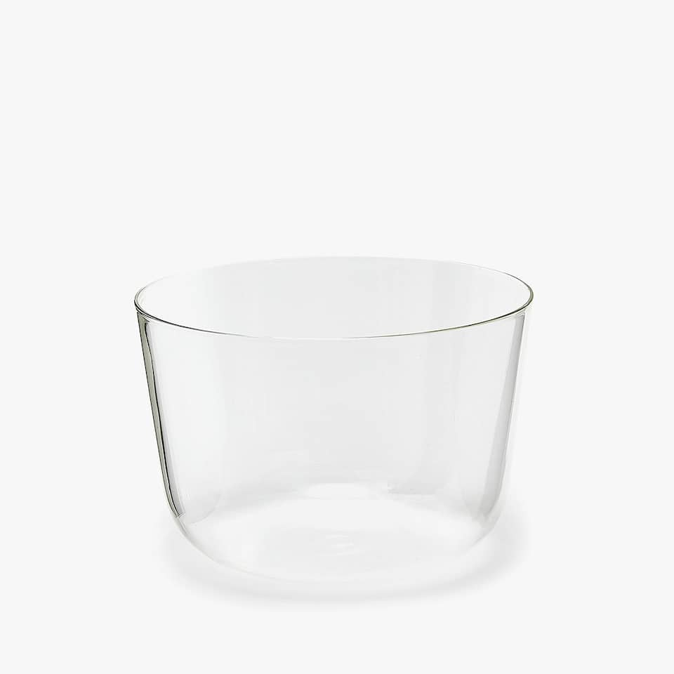 LARGE BOROSILICATE GLASS BOWL