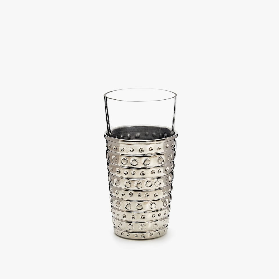 STEEL AND GLASS TUMBLER