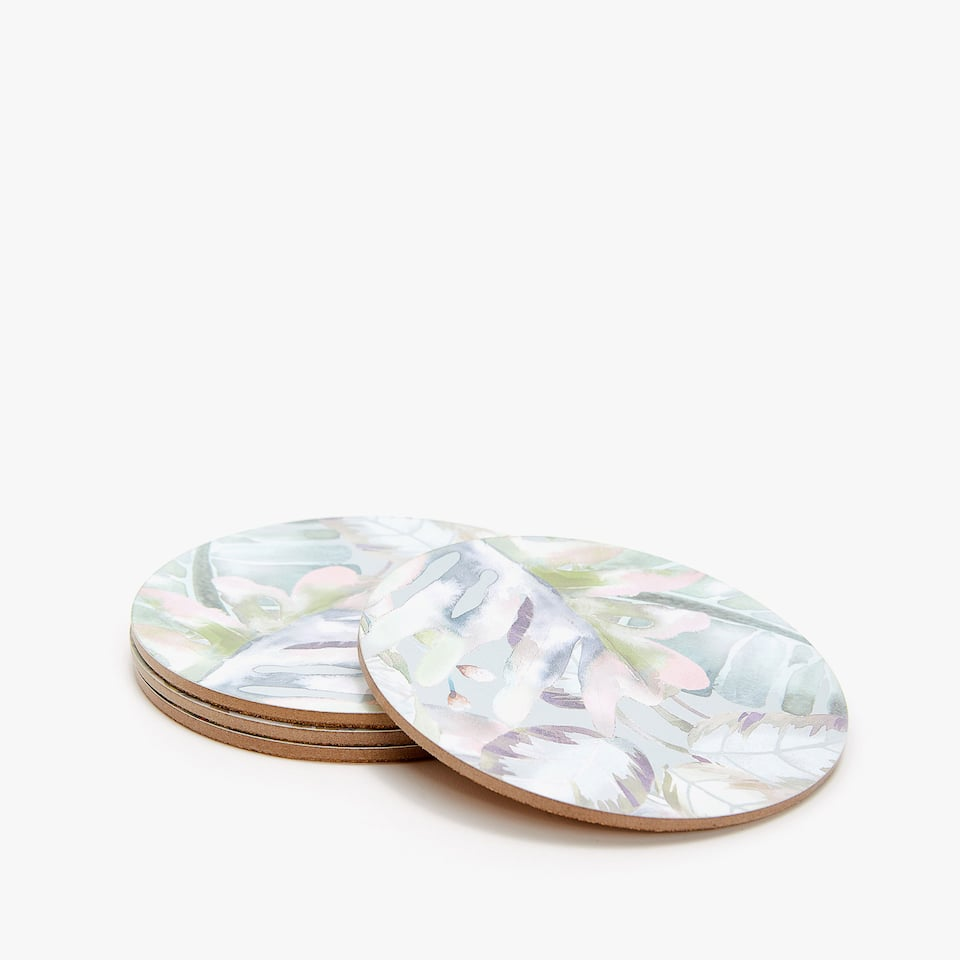 BOTANICAL DESIGN COASTERS (SET OF 4)