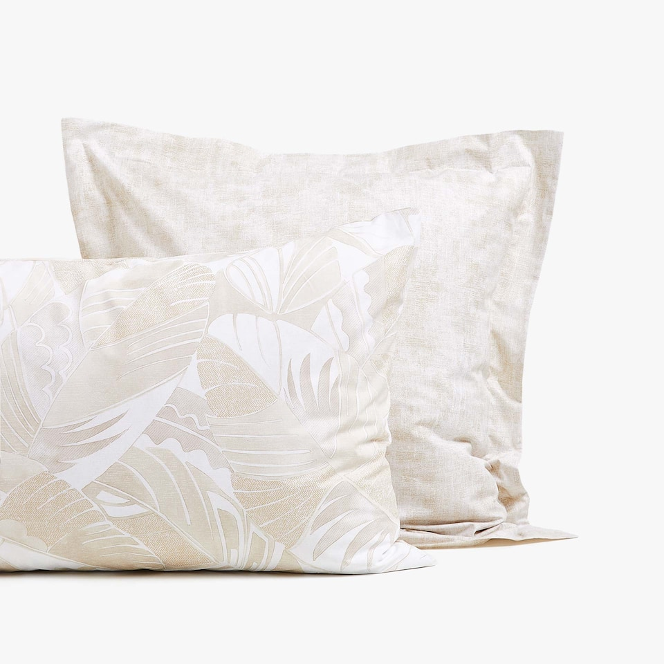 LEAF PRINT PILLOWCASE