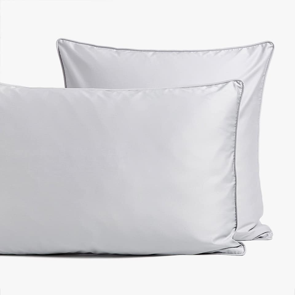 GREY SATEEN PILLOWCASE