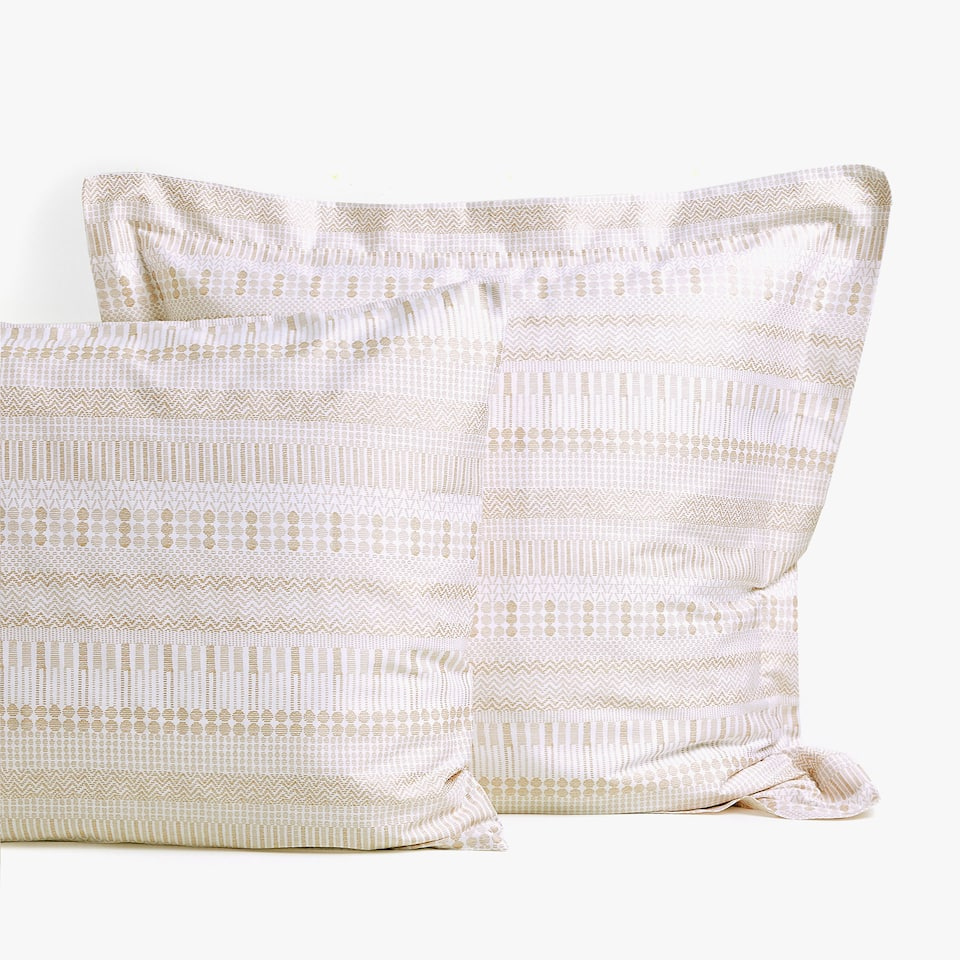 GEOMETRIC PRINT SATEEN PILLOWCASE
