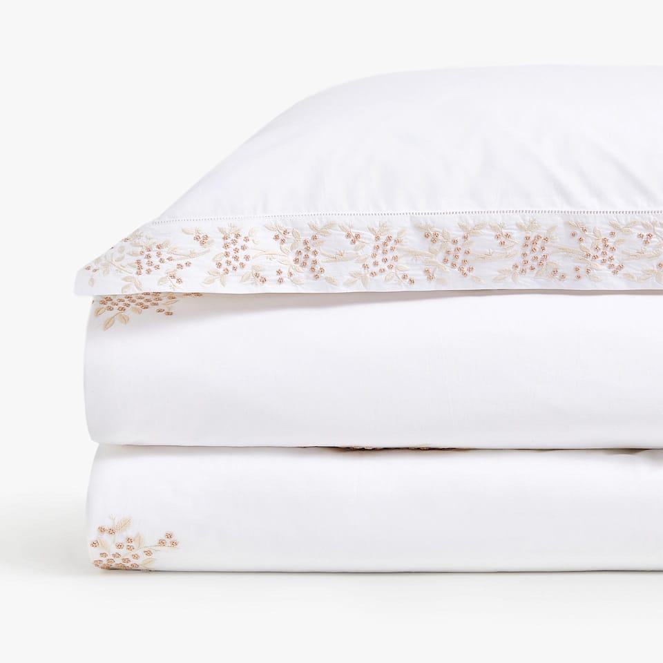 MIMOSA EMBROIDERED DUVET COVER