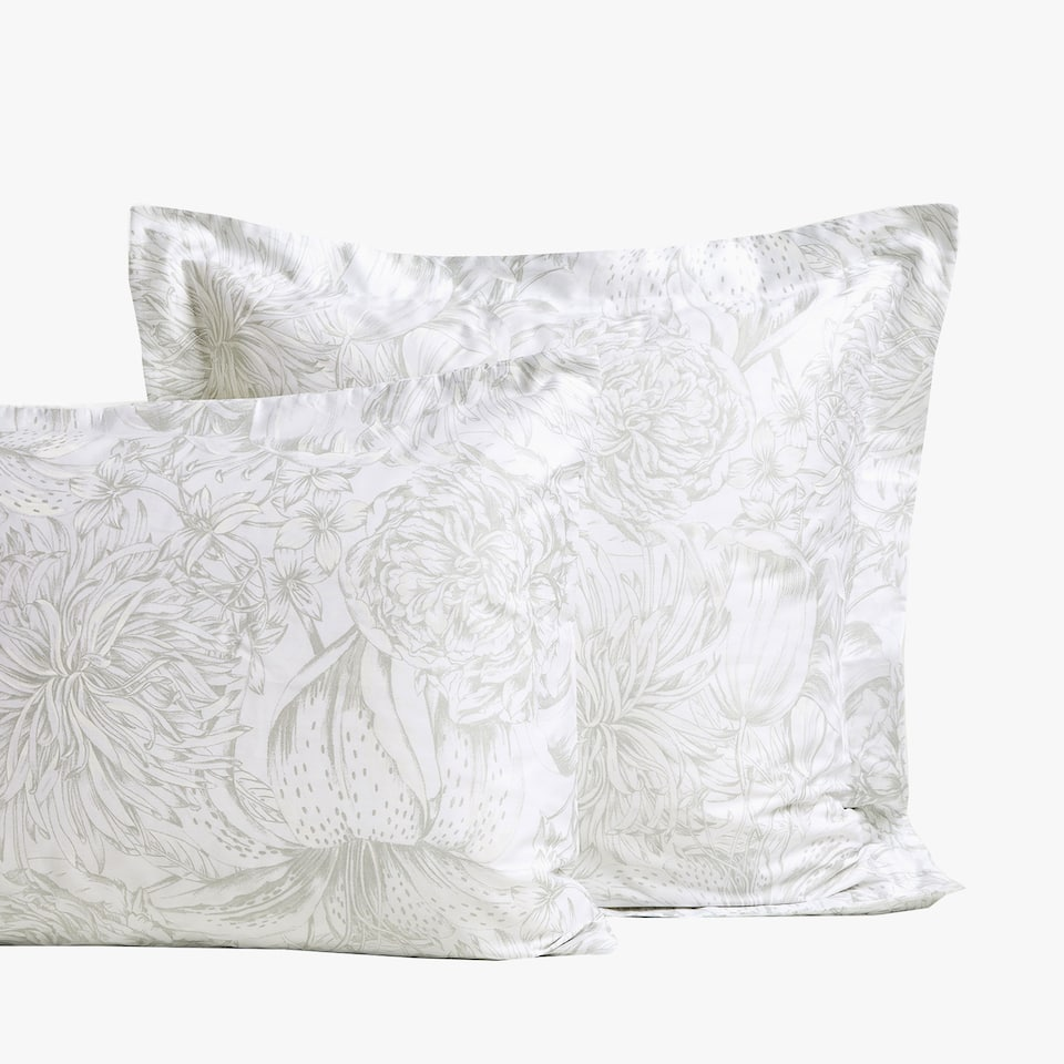 SHINY FLORAL PRINT PILLOWCASE