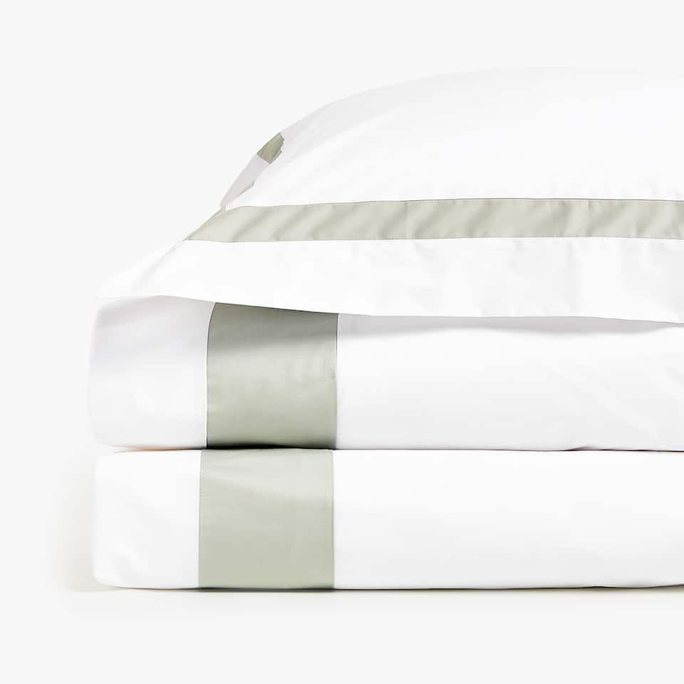 DUVET COVER WITH CONTRASTING BORDER