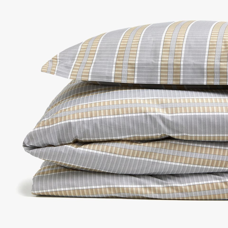CHECKED PRINT DUVET COVER