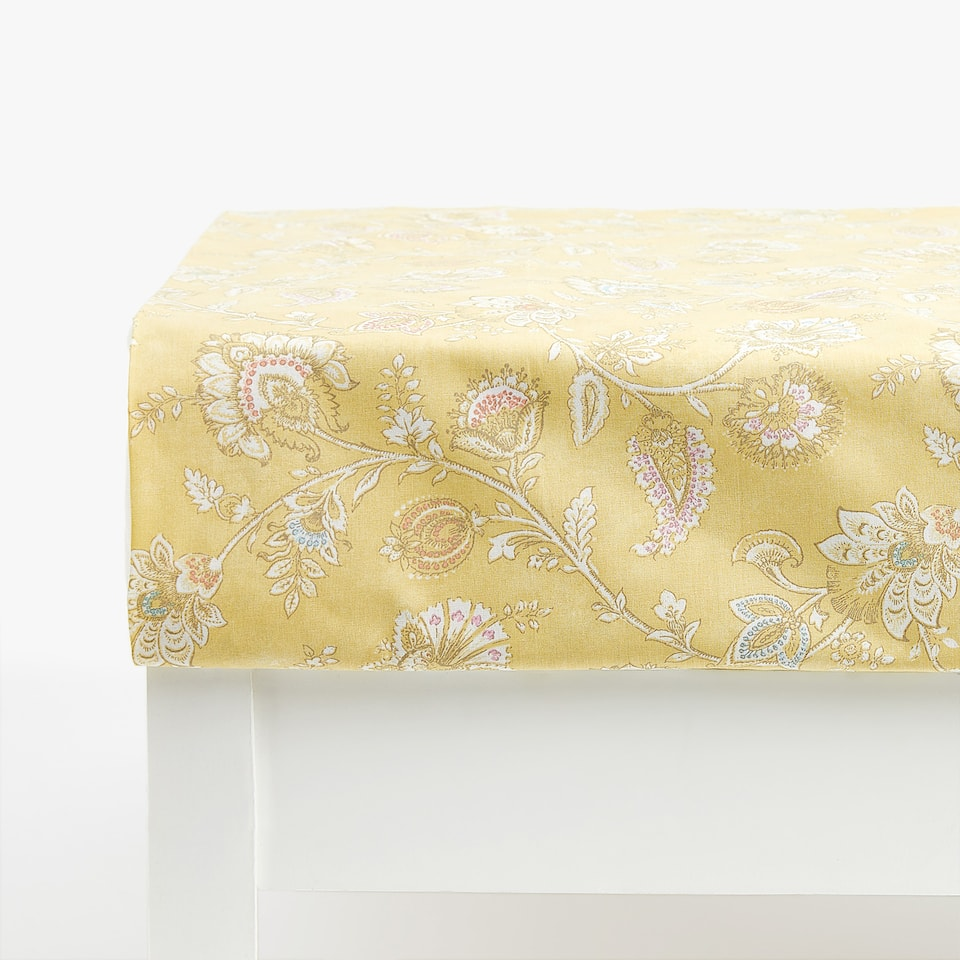 Wildflower Print Bottom Sheet