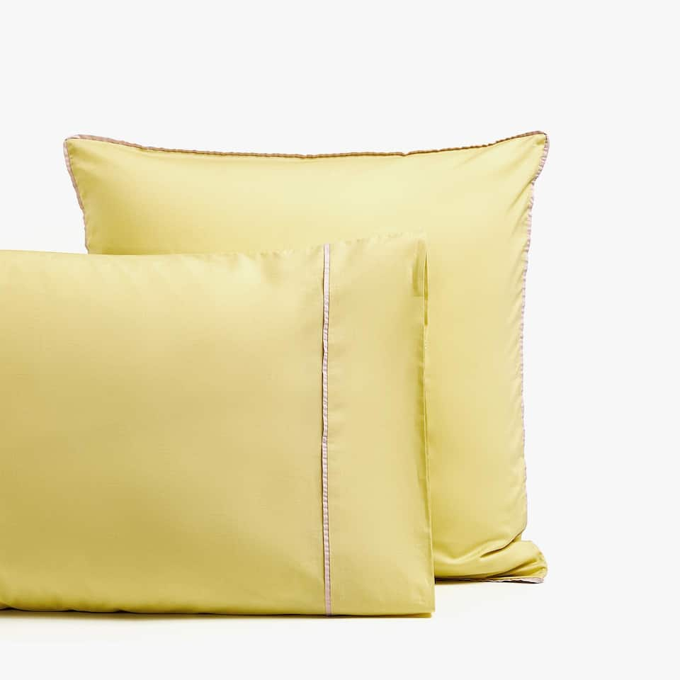 LIME GREEN POPLIN PILLOWCASE