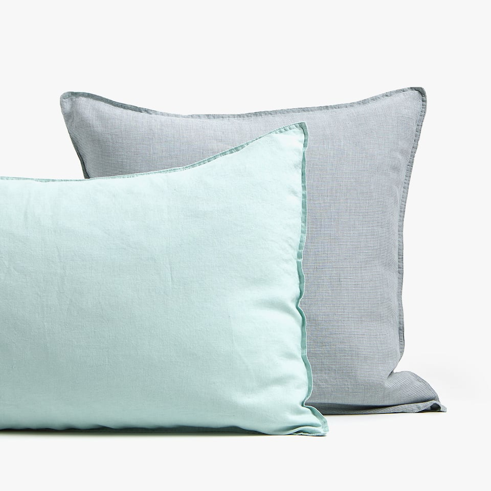 SEA GREEN LINEN PILLOWCASE