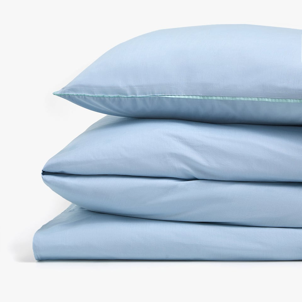 BLUE POPLIN DUVET COVER