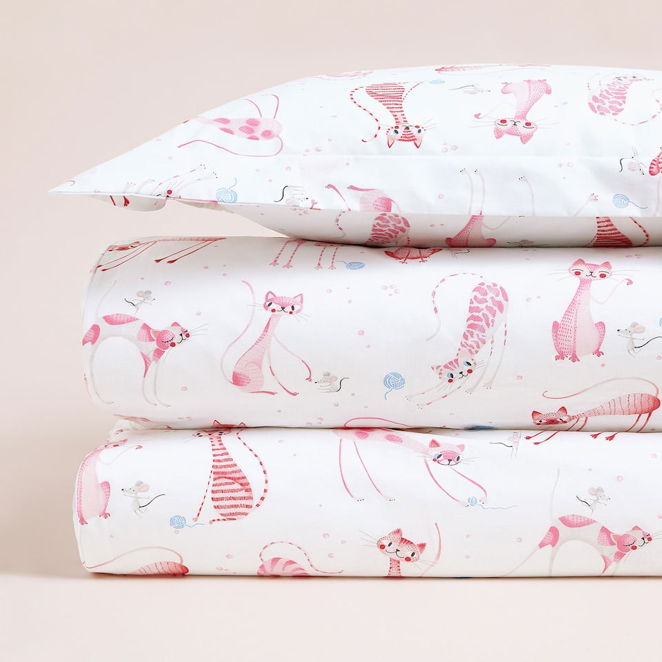 CAT PRINT DUVET COVER
