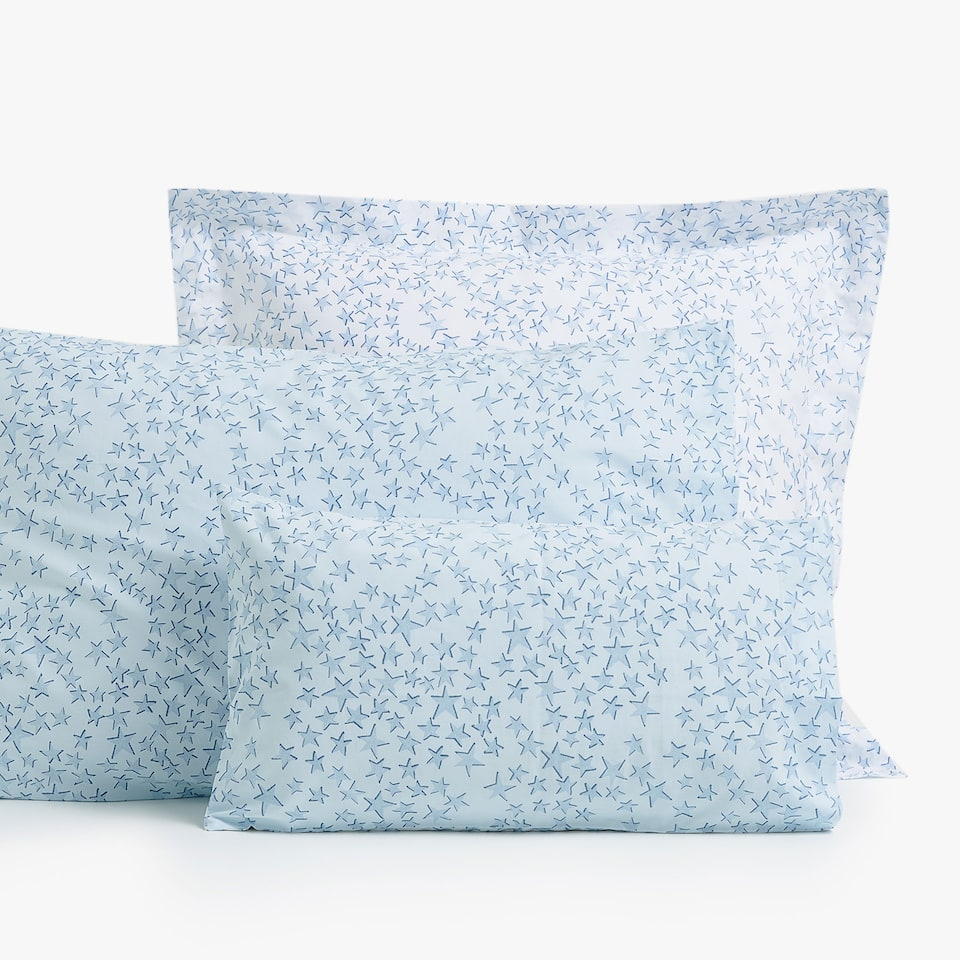 REVERSIBLE STAR PRINT PILLOWCASE