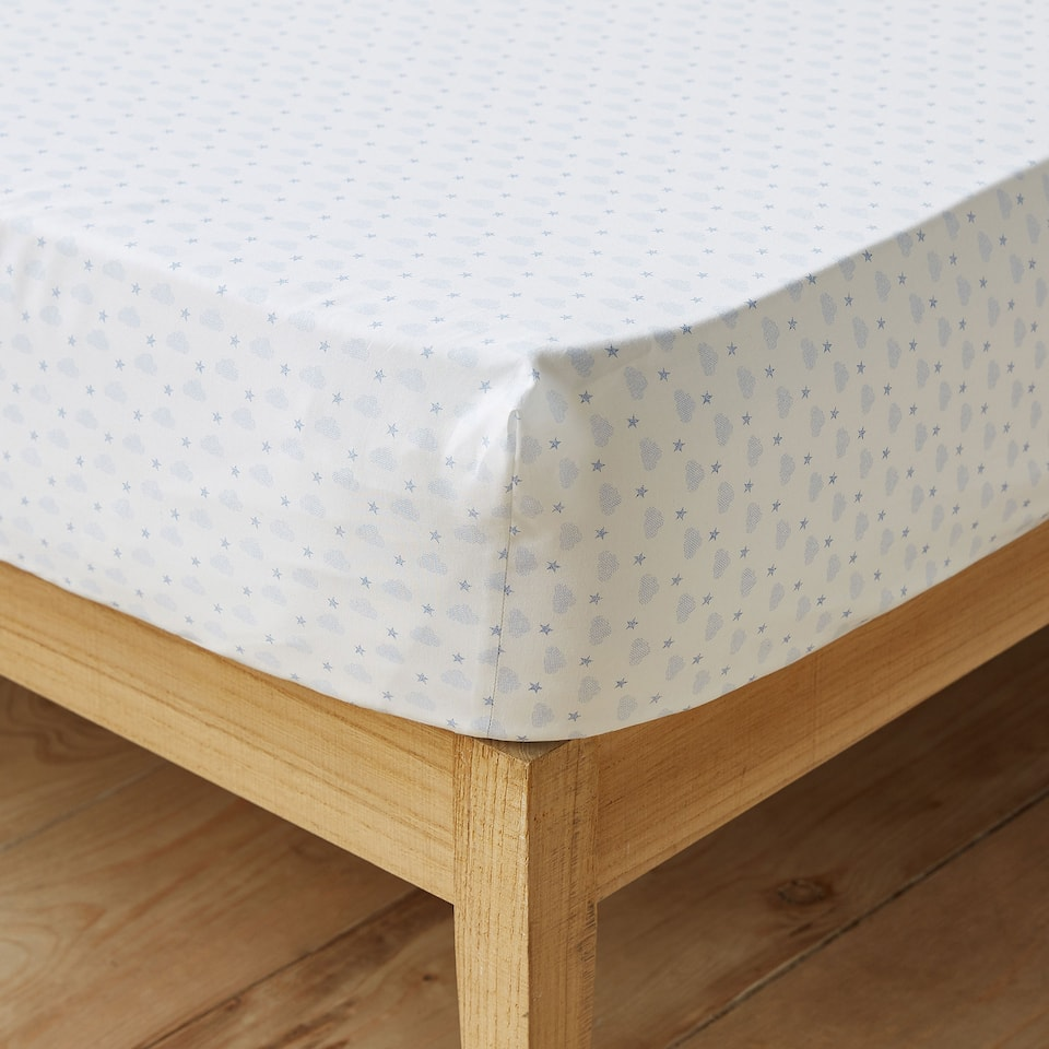 DENIM CLOUD PRINT BOTTOM SHEET