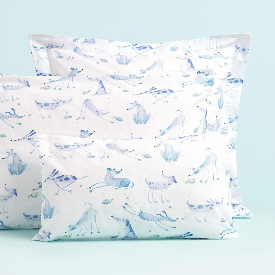 DOG PRINT PILLOWCASE