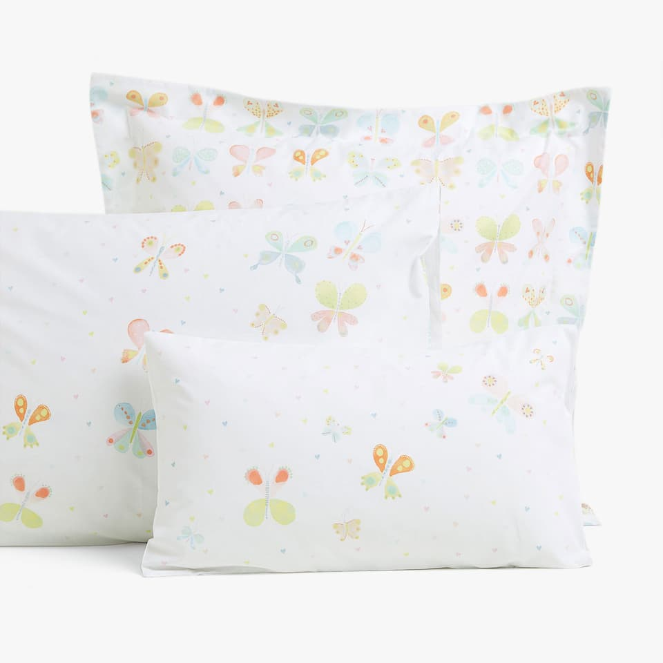 BUTTERFLY PRINT PILLOWCASE