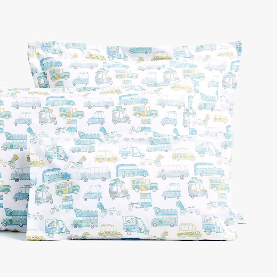 CAR PRINT PILLOWCASE