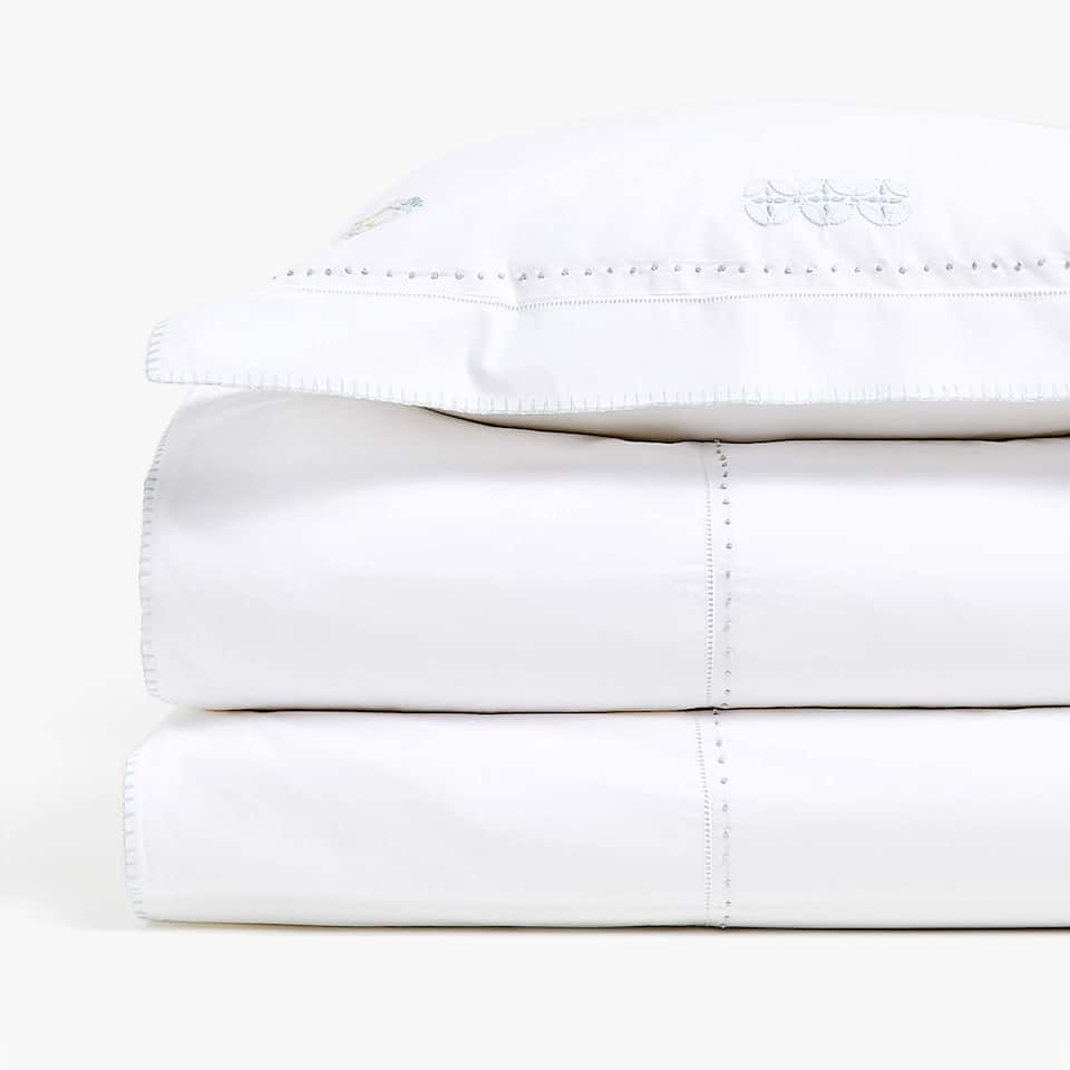 EMBROIDERED CARS PERCALE DUVET COVER