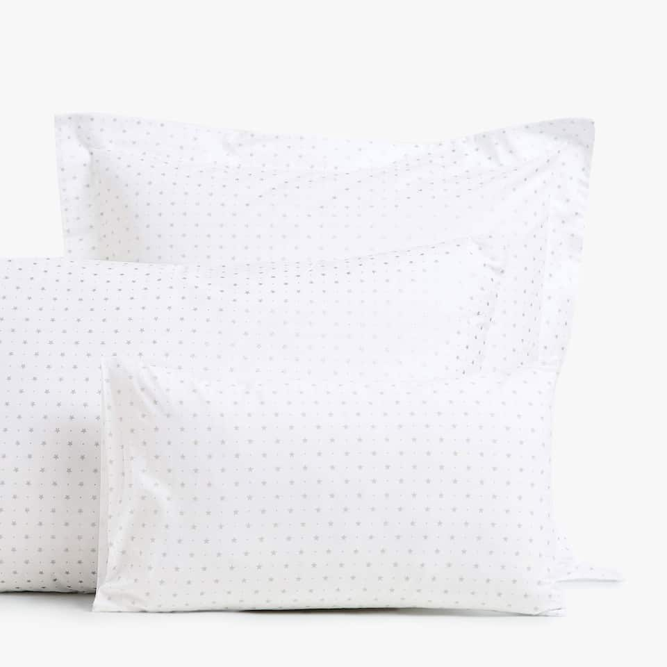 STAR PRINT PERCALE PILLOWCASE