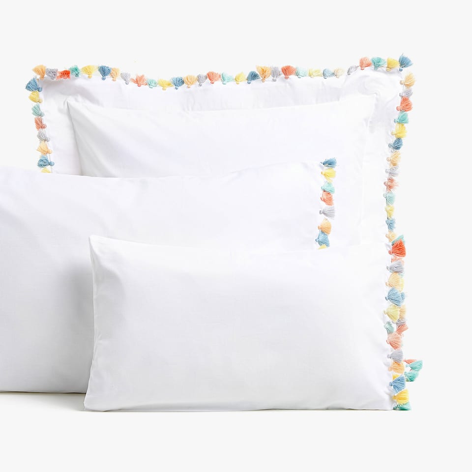 TASSEL DETAIL PERCALE PILLOWCASE