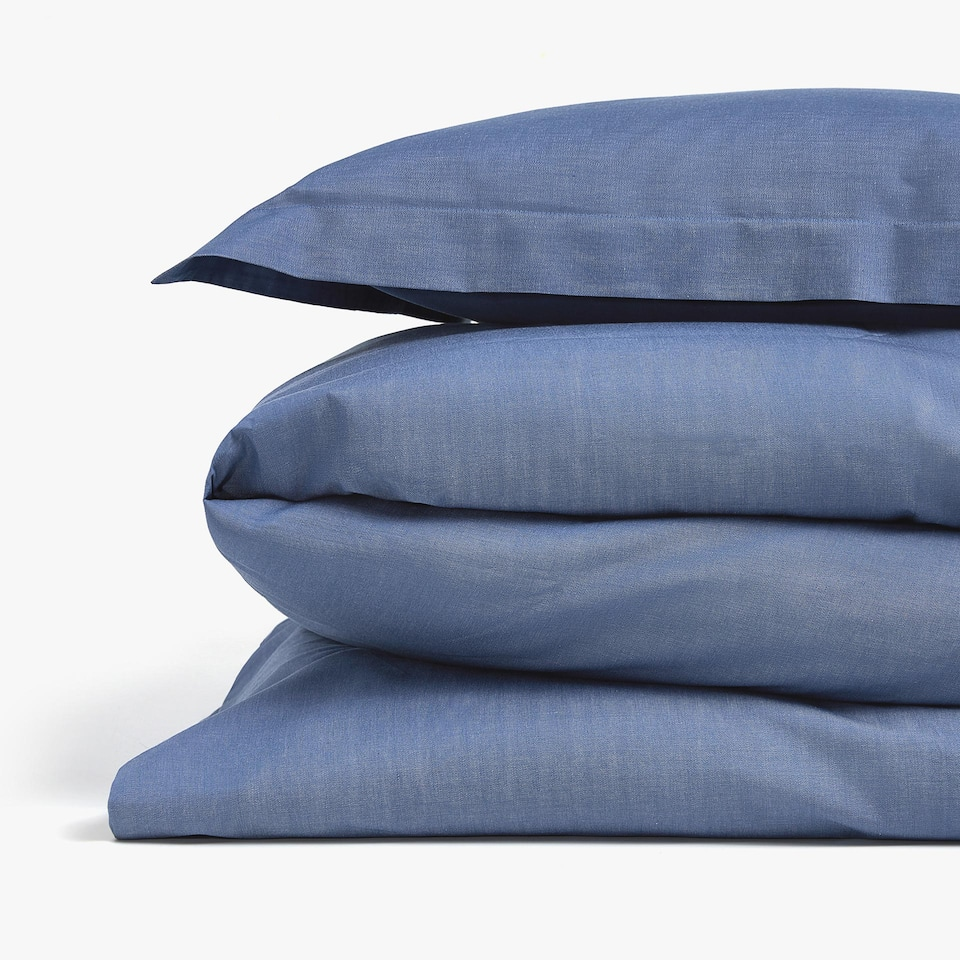 Denim-effect Dyed Thread Duvet Cover