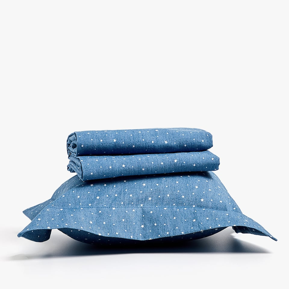 DENIM SHEET SET FOR MOSES BASKET AND MINI COT