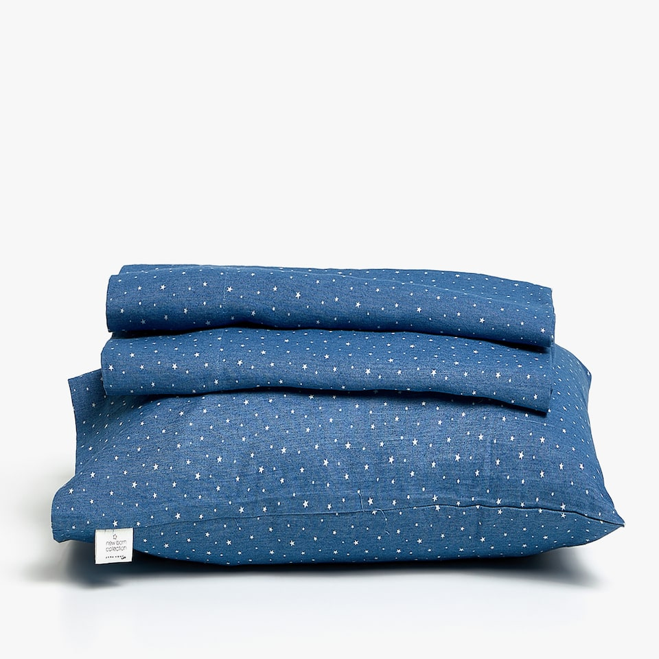 SET DE SÁBANAS DE CUNA DENIM
