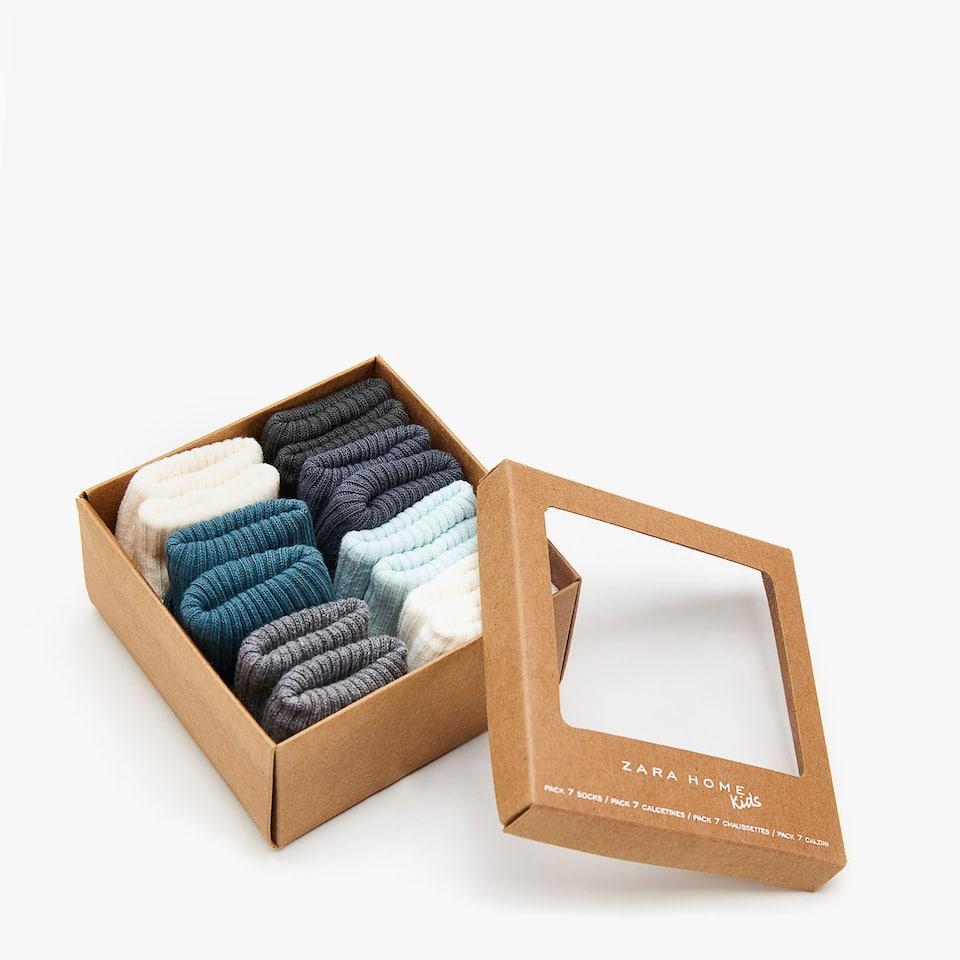 Набор трикотажных носков для младенцев (7 пар)