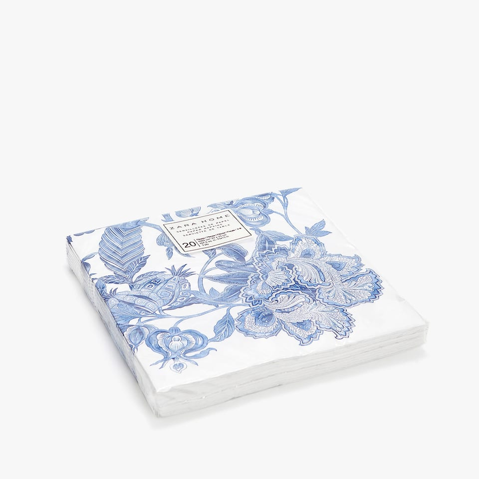 Floral paper napkins (set of 20)