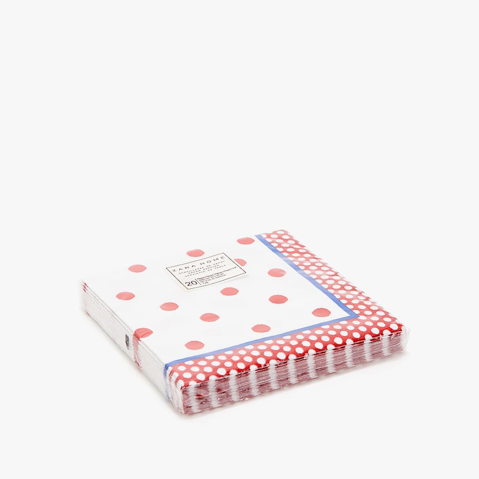 Polka dot paper napkins (set of 20)